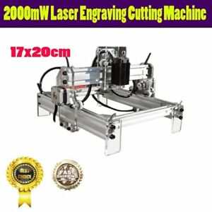 2000mw Laser Engraving Marking Machine Wood Cutter Printer Engraver 17 20cm Vh