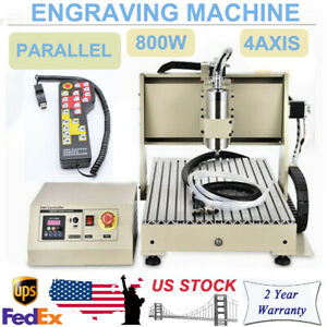800w Ac110v Cnc 3040 Router 4axis Engraver Machine Water cooled Vfd Durable New