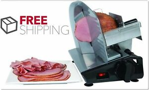 Commercial Electric Meat Slicer Food Cooks Steel Deli Cheese Cutter Restaurant