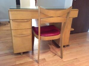 Mid Century Modern Heywood Wakefield Student Desk M 783 W Wheat And Chair