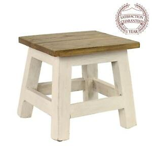 Goya Wood Step Stool Accent Made Of Mahogany In Chic Lightly Distressed Finish