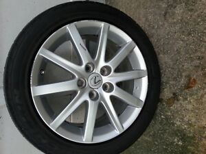 Toyota Camry Lexus 17 10 Spoke Silver Alloy Aluminum Wheel Tire 1 Oem