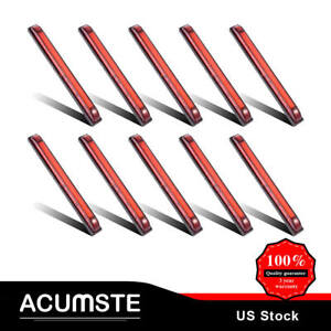 10x 8 Led Utility Strip Light Marker Red 18diodes Bosts Lighting Decorating New