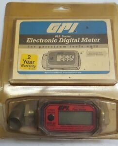 Gpi Electronic Digital Fuel Meter 01a31gm New In Packaging