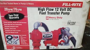 Fill rite High Flow 12 volt Dc Fuel Transfer Pump 20 Gpm Or 76 Lpm
