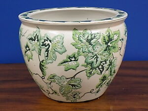 10 Chinese Porcelain Fish Bowl Planter Vase Bowl