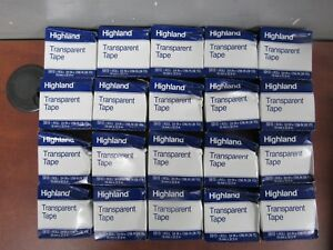 Lot Of 20 Rolls Of Highland 5910 Transparent Tape 3 4 X 1296 25d