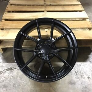 18 Wheels Rims M3 Cs Style Matte Black Fits Bmw E46 E90 E92 E93 F30 F32 F33