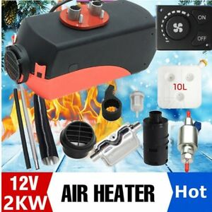 2000w 2kw 12v Air Heater Single hole Switch With Muffler Universal Tank Vent Vn