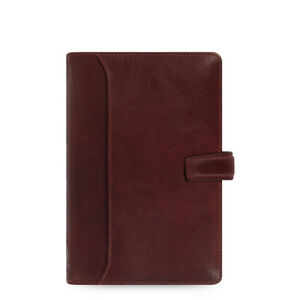 Filofax Personal Lockwood Diary Notebook Garnet Red Leather Organiser 021697