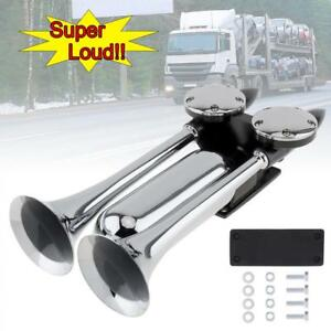 12 24v 130db Super Loud Dual Trumpet Electronically Controlled Air Horns Extend