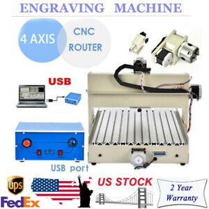 28kg 4 Axis 3040 400w Desktop Cnc Router Engraver 3d Cutter Machine Usb New