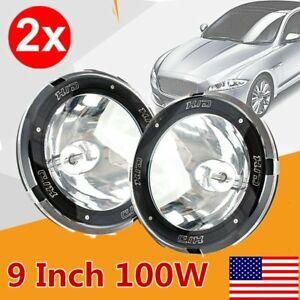 2x 9 Inch 100w Hid Driving Lights Xenon Spotlight Offroad 4wd Truck 12v Us