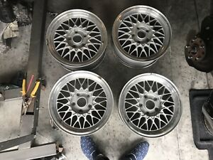 1986 1991 Mazda Rx 7 Fc3s Oem Bbs15x6 5 Light Weight Factory Alloy 4 Wheels Set