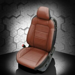 Katzkin Black Bourbon Leather Int Seat Covers Fit 2015 2019 Ford Mustang V6 Gt