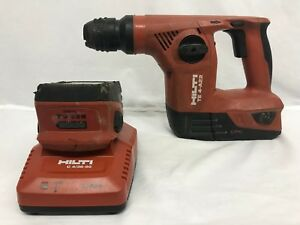 Hilti Te 4 a22 Battery Powered Hammer Drill With 2 Batteries And Charger