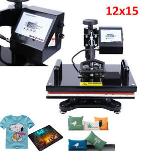 12x15 Swing Away Lcd Digital Heat Press Transfer Machine Sublimation T shirt
