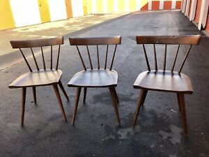Paul Mccobb Planner Group Dining Chairs Mid Century Modern Winchendon Vintage