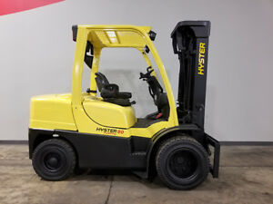 2010 Hyster H80ft 8000lb Dual Drive Pneumatic Forklift Diesel Lift Truck Hi Lo