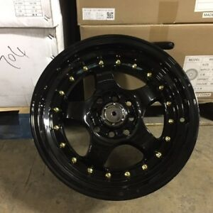 15 Emotion Style Wheels Rims Black 4 Lug 4x100 114 3 4x4 5 Brand New Set Of 4