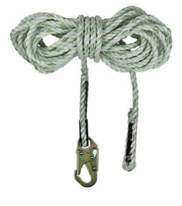 Safewaze Fs700 25 5 8 Polyester 3 strand Twisted Rope Lifeline 25