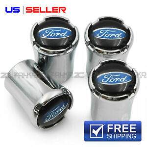 Valve Stem Caps Wheel Tire Chrome For Ford Us Seller Vt27