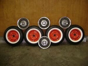Chevrolet Wire Wheel Hub Caps P215 75r 14 Radial Wide White Walls Tires And Rims