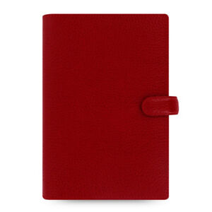 Filofax Personal Planner Finsbury Diary Cherry Red Leather Organiser 022497