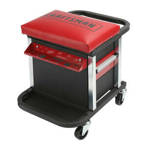 New Craftsman Garage Glider Rolling Tool Chest Seat Tools Not Included Free Ship