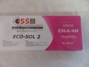 Roland Replacement Ink Esl4 4m Magenta 440ml Eco sol 2 New Sealed In Package