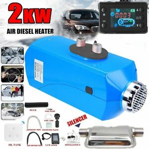 12v 2kw Diesel Air Heater Lcd Monitor For Trucks Boats Bus Car Suv Motorhome Hot