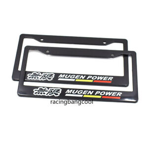 1pair Mugen Plastic Racing License Plate Frame Tag Cover Holder For All Car