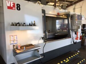 Used 2015 Haas Vf 8cnc Cnc Vertical Machining Center Mill Ct40 Wips Tsc Ips 5th