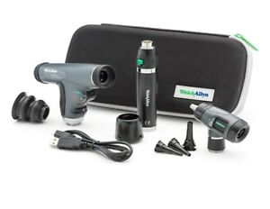 Welch Allyn Led Diagnostic Set Panoptic Lithium Ion Handle Macroview Otoscope