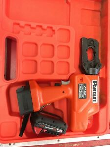 Panduit Ct 2001 Hydraulic Crimping Tool Take Milwaukee M18 Batteries