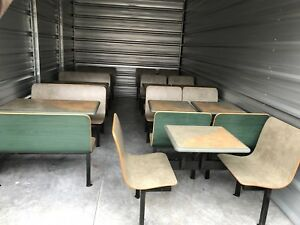 10x Subway Restaurant Plymold Booth Seat Chairs 7x 2 Top 3x 4 Top Tables