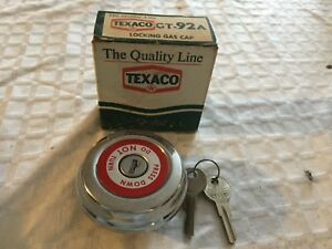 Vintage Texaco Gt 92a Locking Gas Cap 2 Keys Volkswagon Thunderbird