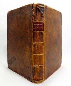 Early 19th C Antique Flowers Of Ancient Hist 1817 Rev John Adams Leather Bound