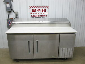 Edesa 67 2 Door Stainless Steel Refrigerated Sandwich Pizza Prep Table Edpt 67