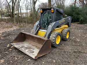 New Holland Ls180 Skid Steer Loader 2 Speed Travel Erops W heat Runs Well