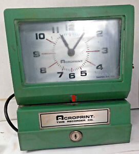 1 Used Acroprint 150qr4 Heavy Duty Automatic Print Time Clock make Offer