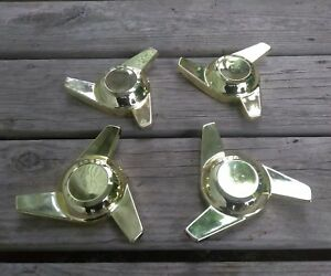 Gold Knock Off Style Spinners Cragar Star Wire Wheels True Spoke Weld Dayton Tru