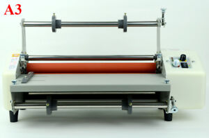High Speed Hot Cold Roll Laminator 14in Thermal Laminator 110v A3 Doubel Sides