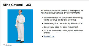 5 3xl Uline Protective Clothing Deluxe Coveralls S 17924 3x For 6 2 6 4