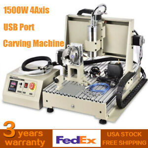 Water cooling 1500w 4axis 6040 Cnc Router Mini Engraver Machine Usb 3d Durable