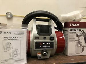 Titan Capspray 115 Hvlp Fine Finish Paint Sprayer Titan Maximum Elite Gun