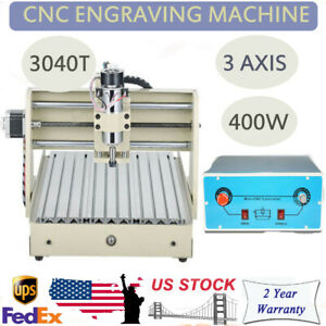 Cnc 3040 Desktop 3 Axis 400w Router Engraving Machine Ac110v Brand New
