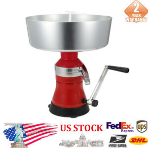 New Stainless Steel Milk cream Manual Separator Skimmer 12l Red silver 500x365mm