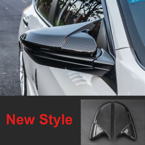 New Carbon Fiber Style Side Mirror Cover Abs Case Cap For Honda Civic 2016 2018