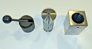 5c Square Collet Block Holder With Quick Release Handle And 3 32 5c Collet Exc